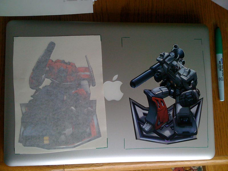 Optimus And Megitron Vinyl Sticker