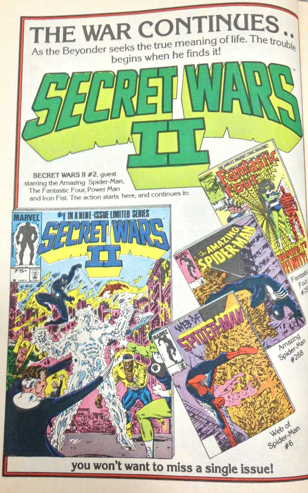 Issue 6 Ad Secret Wars 2