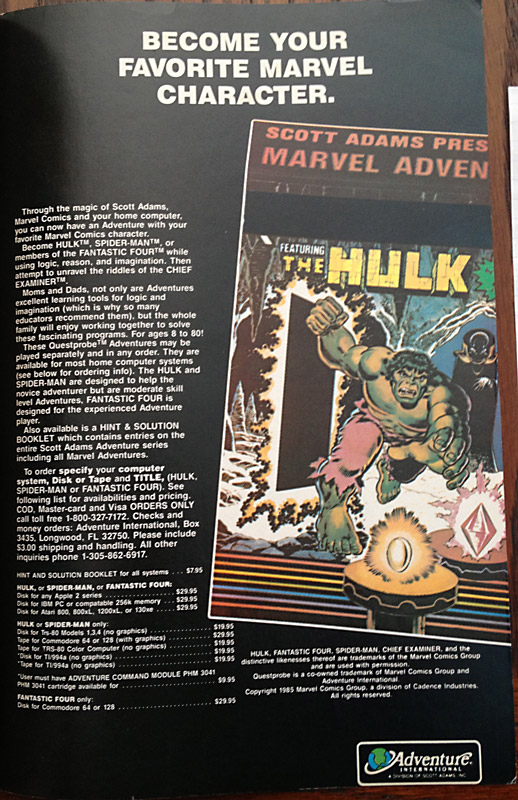 Issue 15 Ad Hulk