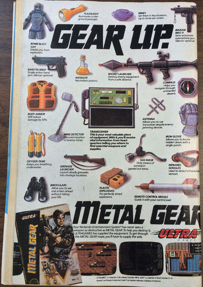 Transformers Issue 44 Ad Metal Gear