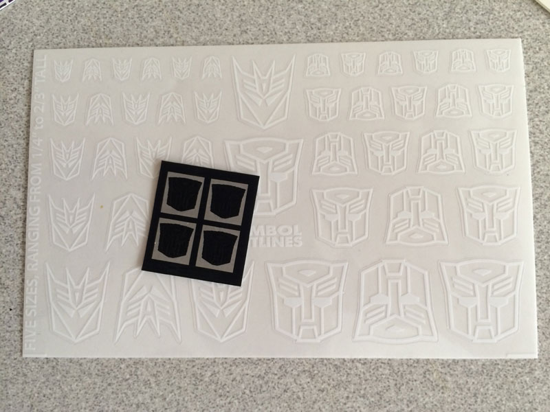 New Autobot Rubsigns And Clear White Logos