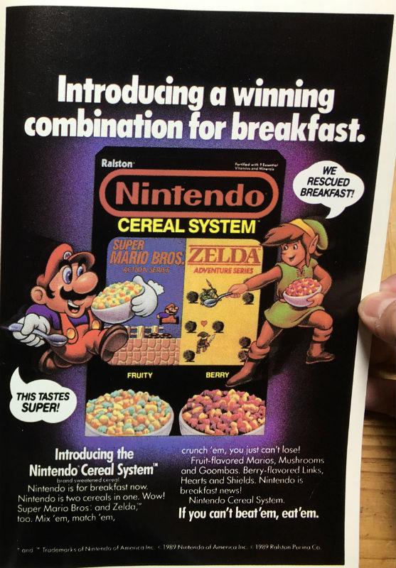Transformers Ad Nintendo Cereal