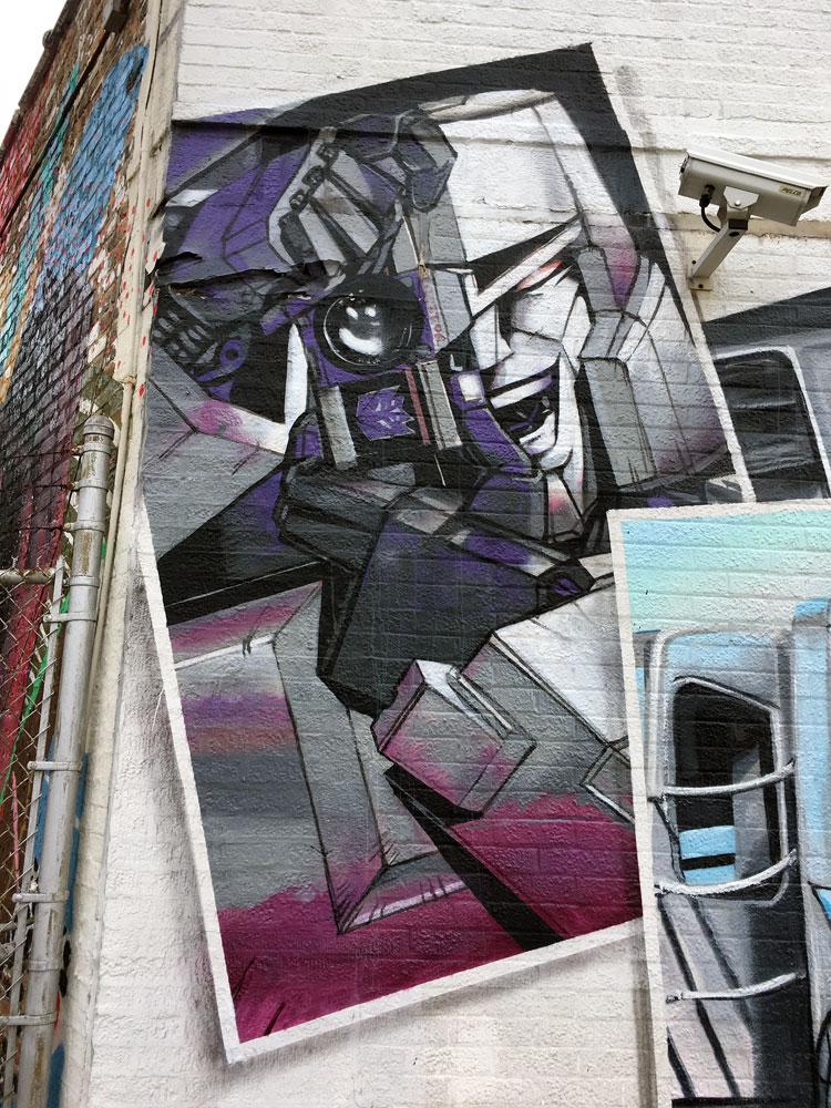 Megatron Street Art