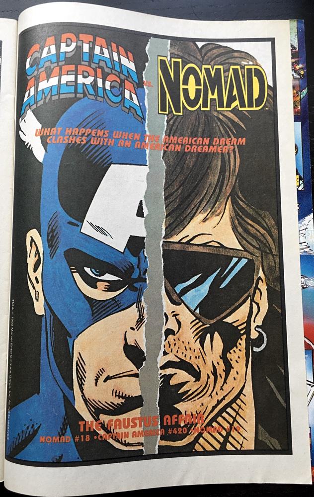 Captian America Nomad Comic Ad