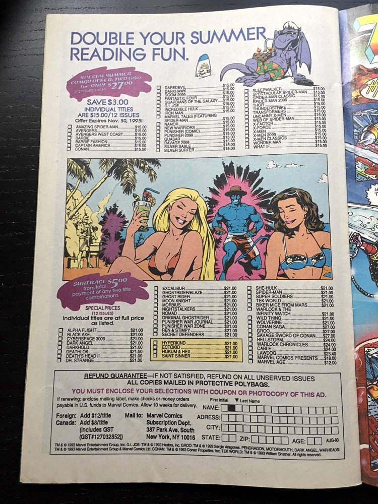 Comic Sales Ad