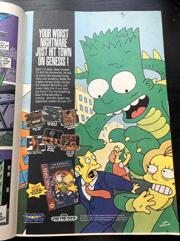 Simpsons Genesis Sega Ad