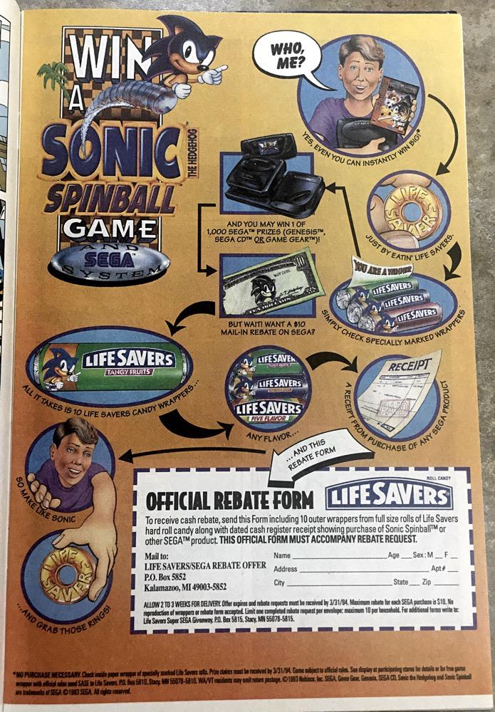 Sonic Spinball Lifesavers
