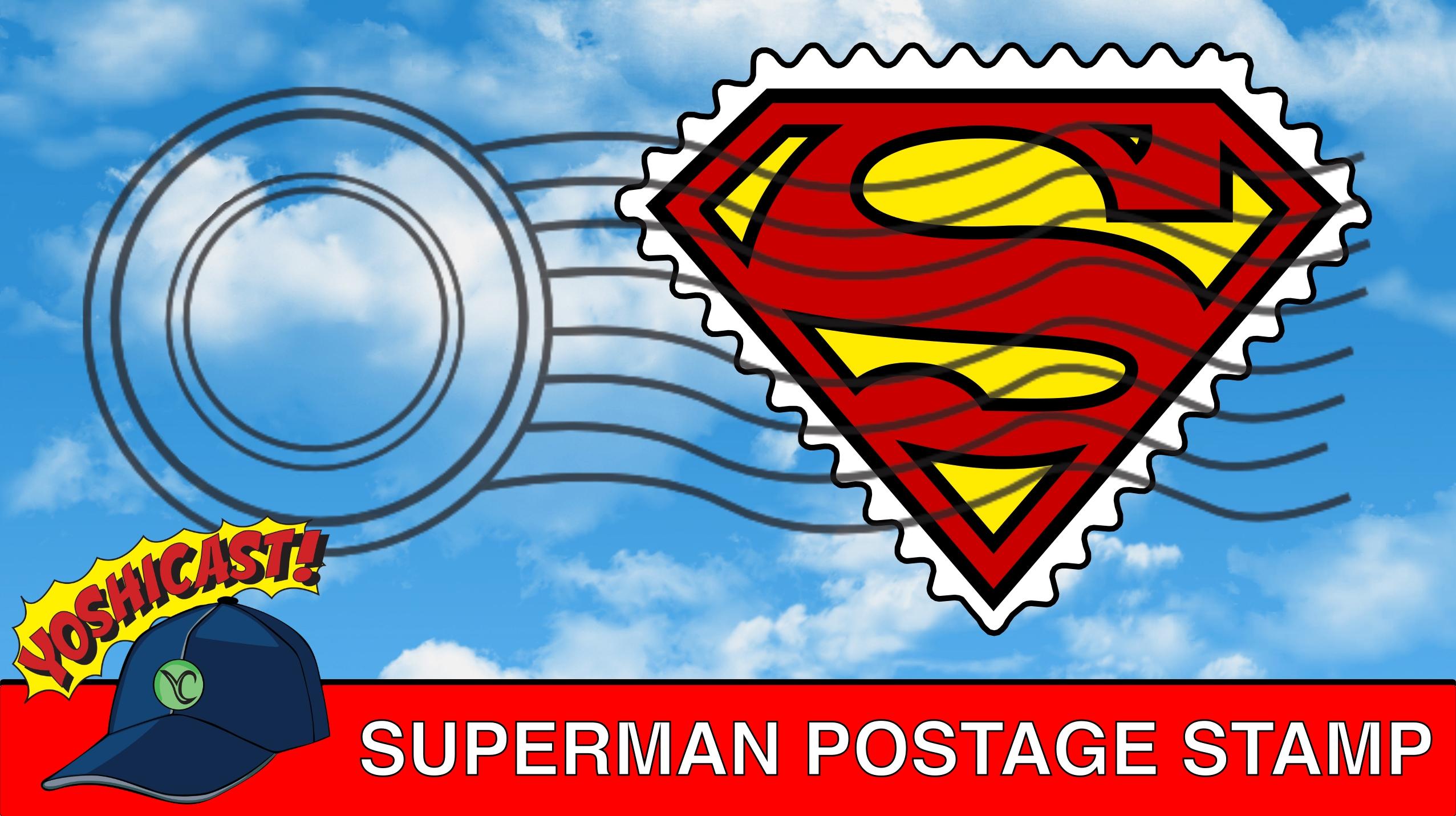 Superman Postage Stamp