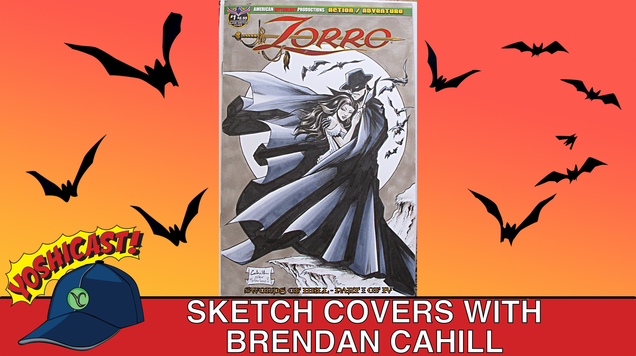 Sketch Covers With Brendan Cahill At ECCC 2019