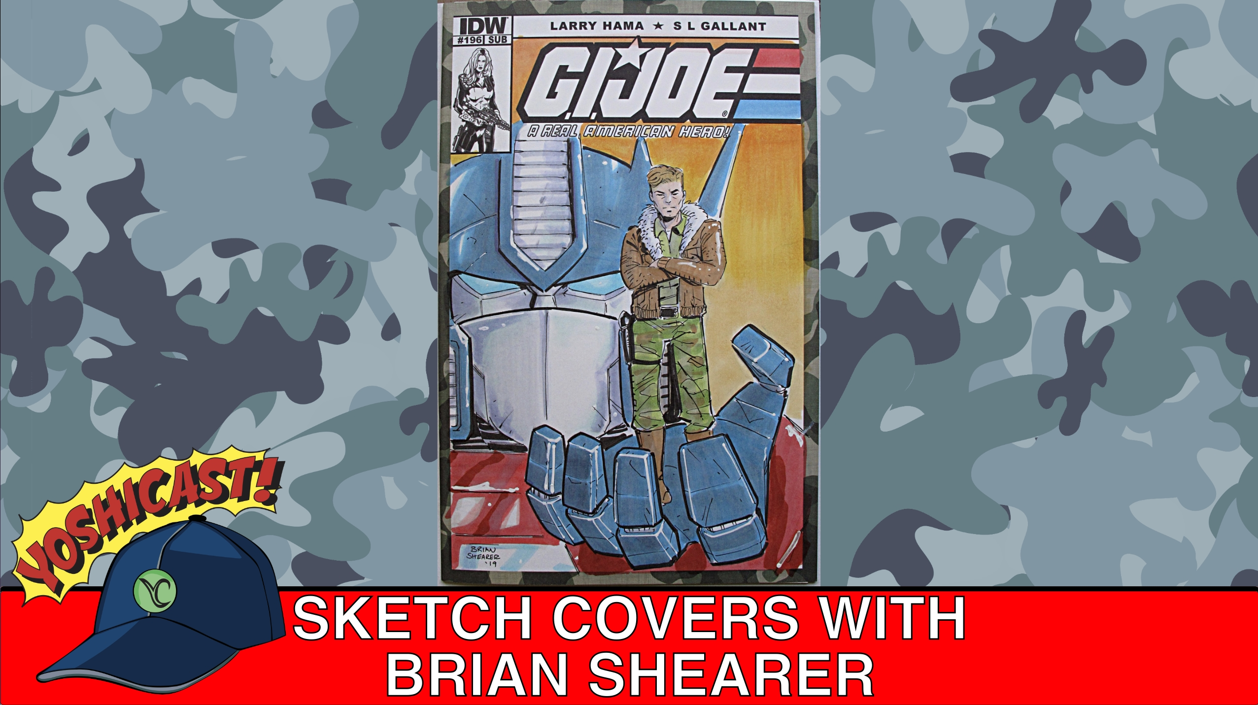 Sketch Covers With Brian Shearer At ECCC 2019