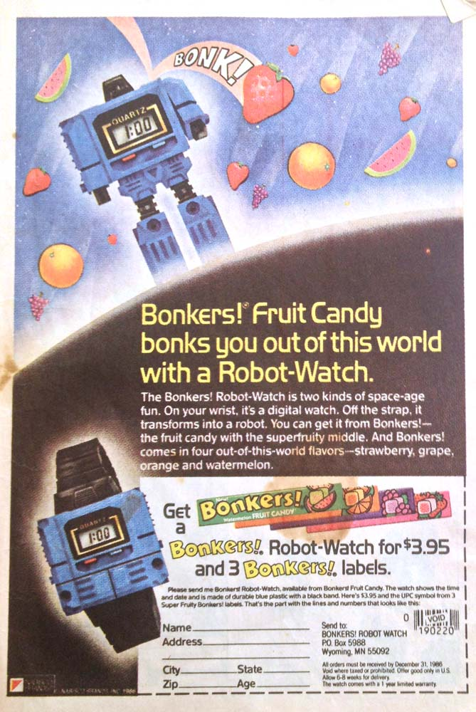Transformers Issue 18 Ad Bonkers