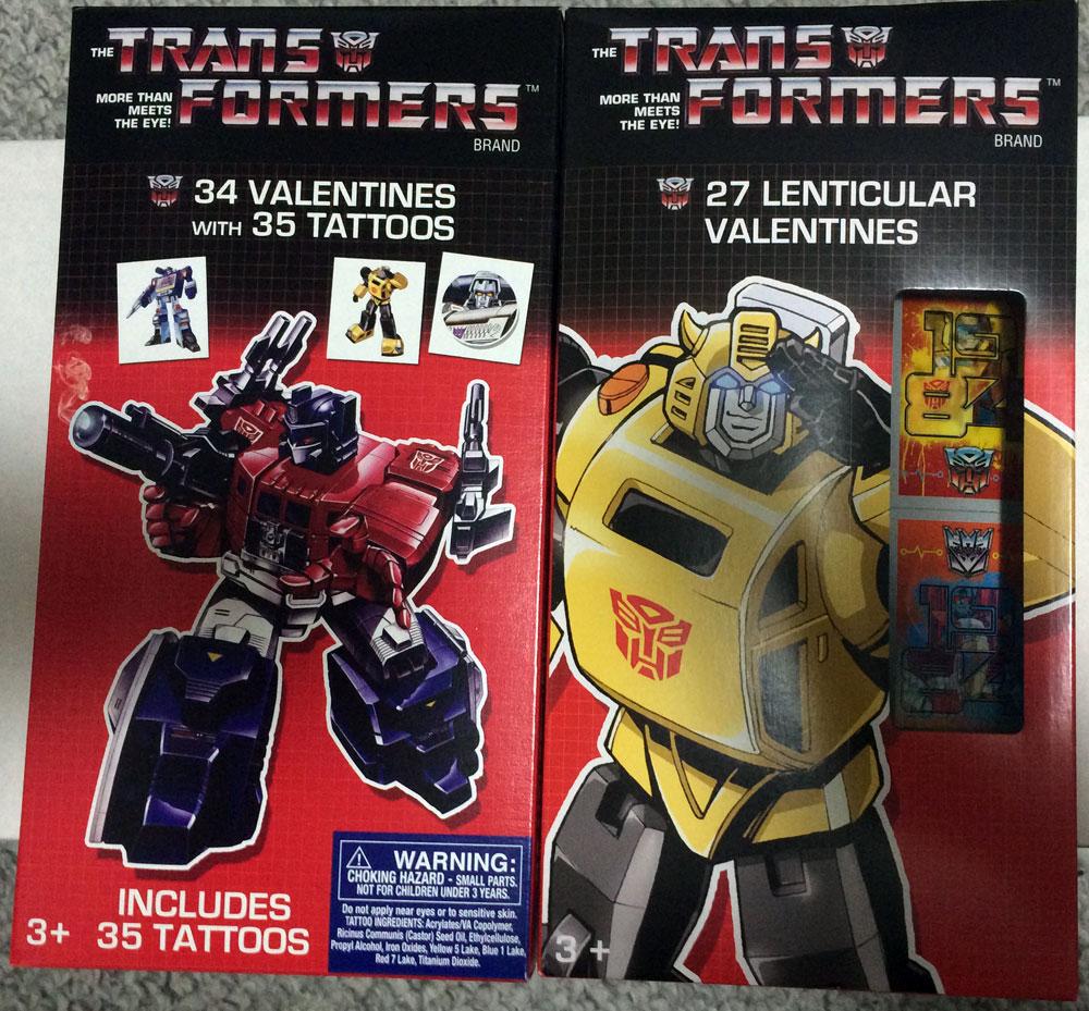 Schön Transformers Valentines Front