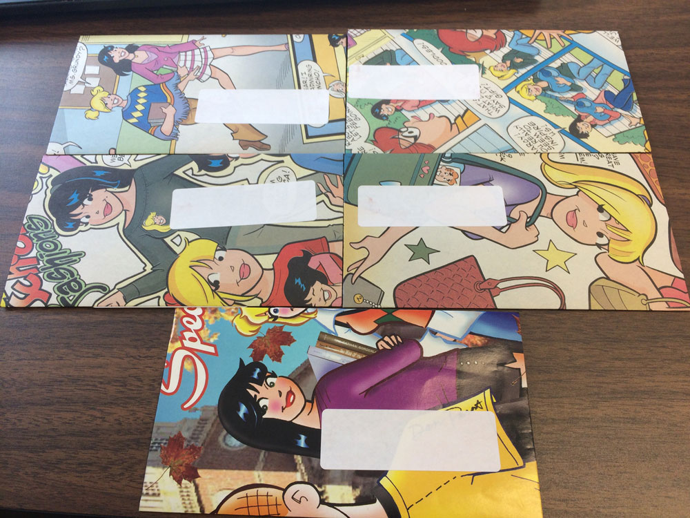 Comic Book Envelopes