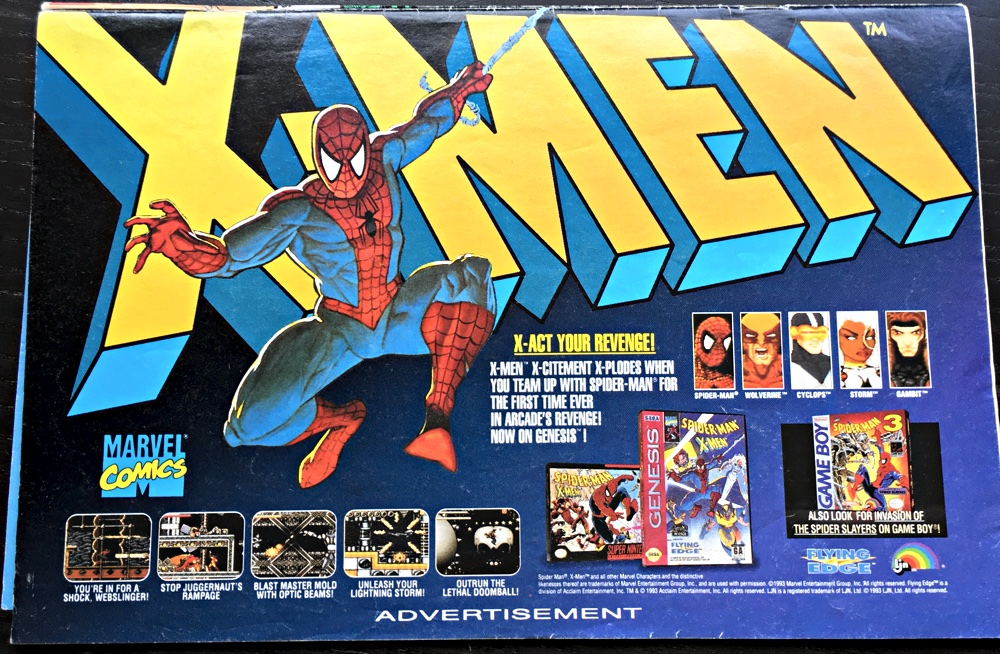 Spiderman Genesis And Game Boy Ad
