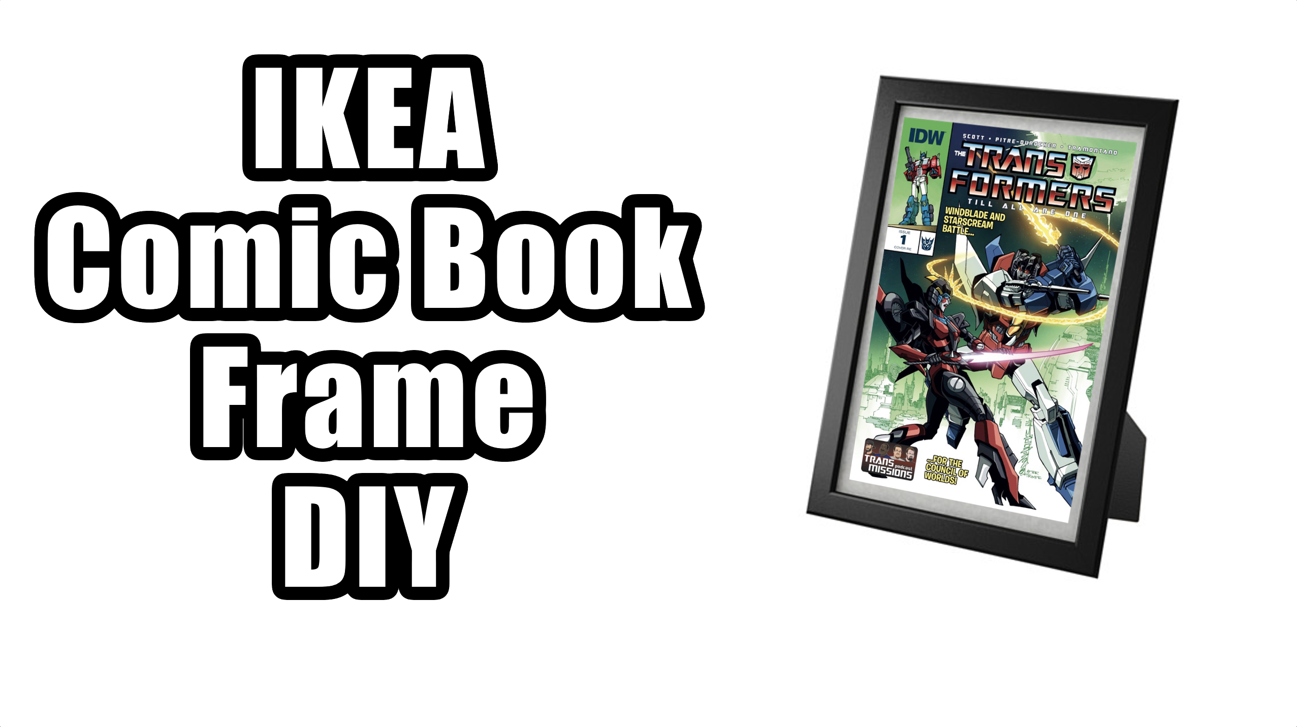 IKEA Comic Book Frame DIY Guide