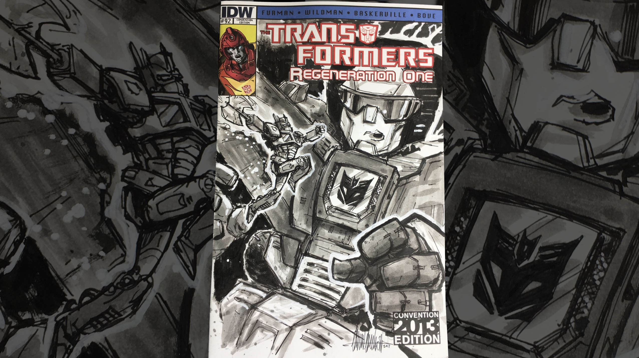 Sketch Covers With Aaron Archer | Transformers Devastation Homage